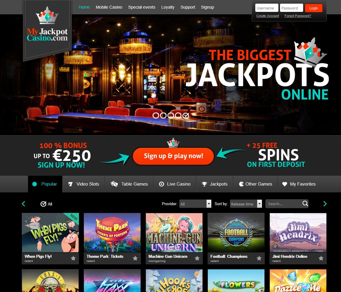 MyJackpot Casino Screenshot